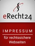 erecht24 Siegel Impressum-rot